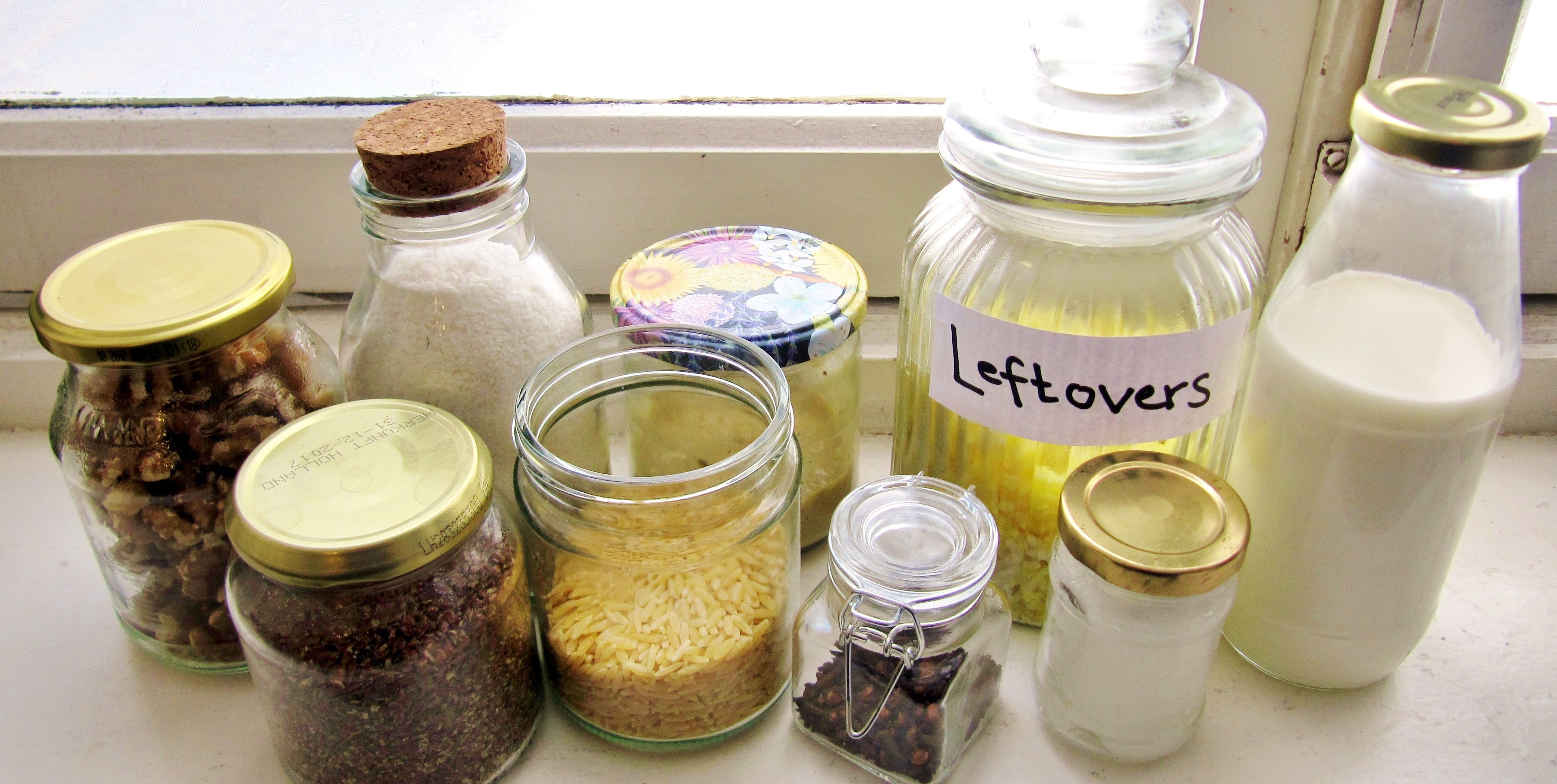 glass jars instead of plastic